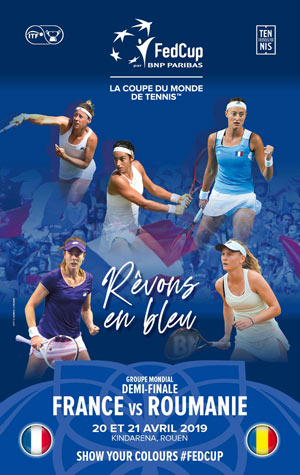 FED CUP PAR BNP PARIBAS Kindarena rencontre, compétition de tennis