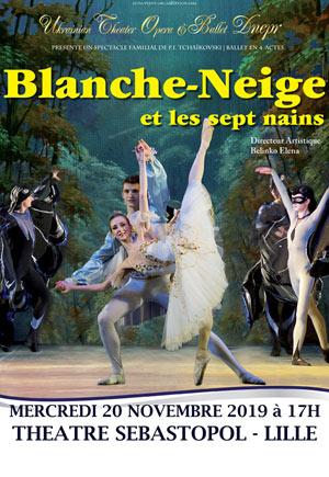BLANCHE-NEIGE Théâtre Sébastopol spectacle de danse classique