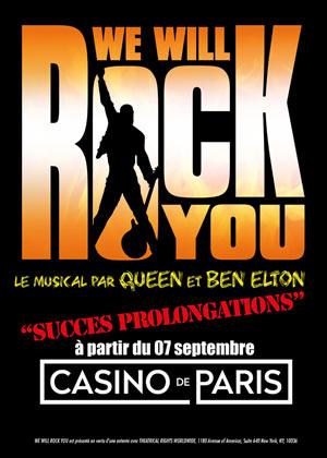 WE WILL ROCK YOU Casino de Paris comédie musicale