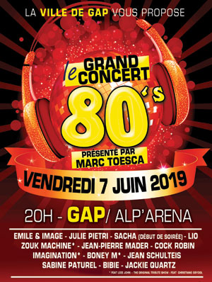 CONCERTS 80'S ALP'ARENA concert de chanson française