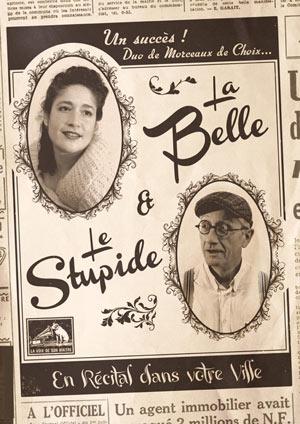 LA BELLE, LE STUPIDE THEATRE DES GRANDS ENFANTS concert de musique d'Europe