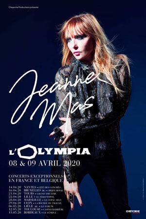 JEANNE MAS Théâtre Fémina concert de chanson française