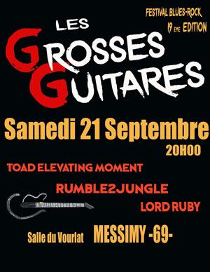LES GROSSES GUITARES SALLE DU VOURLAT concert de rock