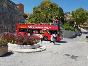 NICE EN BUS À IMPÉRIALE NICE LE GRAND TOUR voyage, excursion
