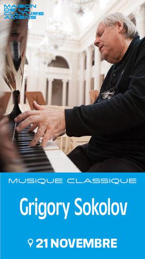GRIGORY SOKOLOV MAISON DE LA CULTURE concert de musique classique