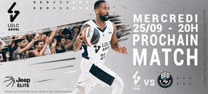 LDLC ASVEL / BOULAZAC L'ASTROBALLE rencontre, compétition de basket