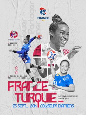 FRANCE / TURQUIE COLISEUM AMIENS rencontre, compétition de handball