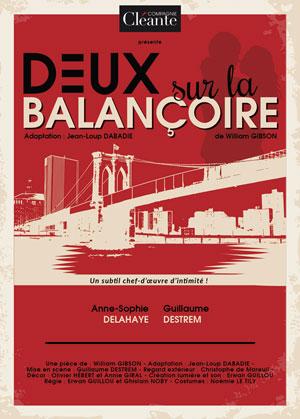 DEUX SUR LA BALANCOIRE Théâtre Municipal pièce de théâtre contemporain