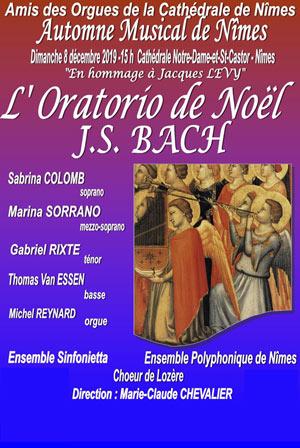 L'ORATORIO DE NOEL - JS BACH CATHEDRALE NOTRE DAME ET ST CASTOR concert de musique classique