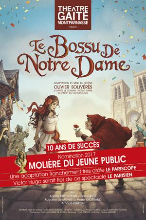 LE BOSSU DE NOTRE DAME THEATRE DE LA GAITE-MONTPARNASSE pièce de théâtre pour enfant