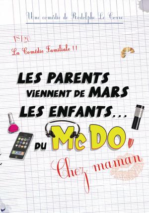 LES PARENTS VIENNENT DE MARS le rideau rouge comédie, pièce de théâtre d'humour