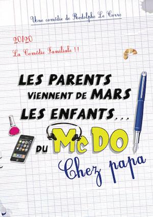 LES PARENTS VIENNENT DE MARS THEATRE A L'OUEST comédie, pièce de théâtre d'humour