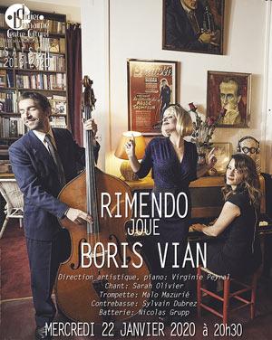 RIMENDO JOUE BORIS VIAN CENTRE CULTUREL concert de jazz
