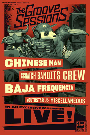 Plus d'infos sur l'évènement CHINESE MAN + SCRATCH BANDITS CREW