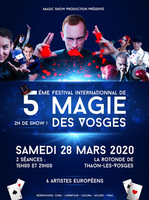 Plus d'infos sur l'évènement FESTIVAL INTERNATIONAL DE MAGIE