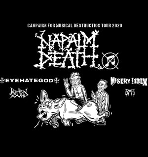 NAPALM DEATH + EYEHATEGOD NINKASI GERLAND KAO concert de rock