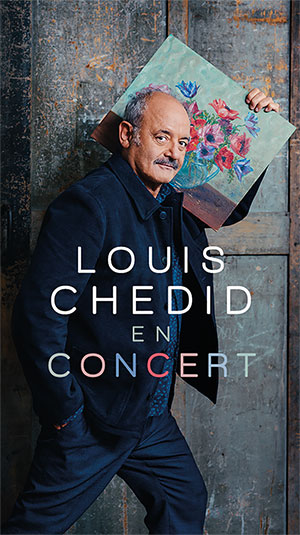 LOUIS CHEDID SALLE DES FETES concert de chanson française