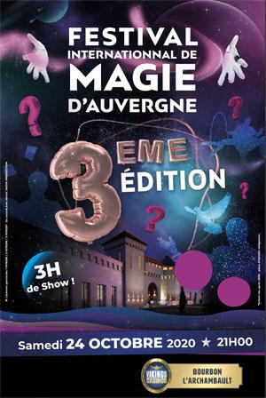 FESTIVAL DE MAGIE D'AUVERGNE CASINO DE BOURBON L'ARCHAMBAULT spectacle de magie pour enfant