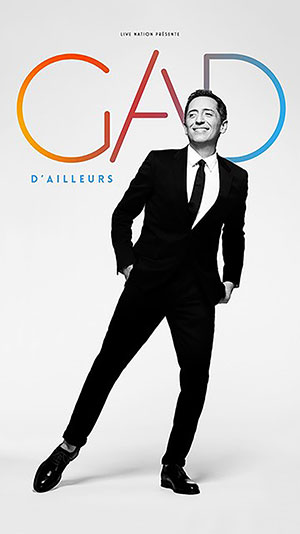 GAD ELMALEH MAISON DU PEUPLE one man/woman show