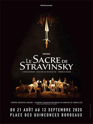 LE SACRE DE STRAVINSKY PLACE DES QUINCONCES spectacle équestre
