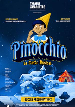 PINOCCHIO Théâtre des Variétés spectacle pour enfant