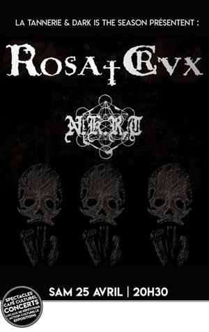 ROSA CRVX + NKRD La Tannerie concert de hard-rock métal