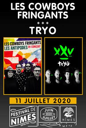 LES COWBOYS FRINGANTS - TRYO Arènes de Nîmes concert de chanson française