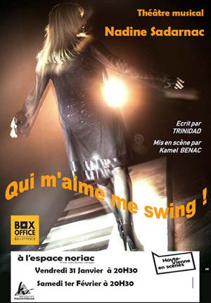 QUI M'AIME ME SWING ! ESPACE NORIAC pièce de théâtre musical