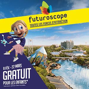 FUTUROSCOPE - BILLET DATÉ 1 JOUR LE FUTUROSCOPE événement