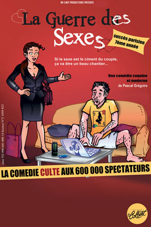 LA GUERRE DES SEXES THEATRE LE COLBERT comédie, pièce de théâtre d'humour