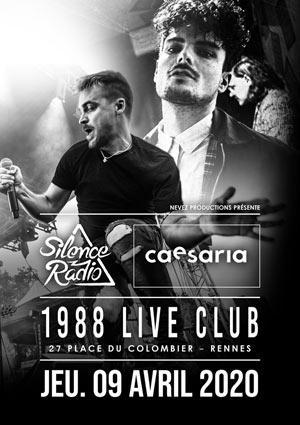 SILENCE RADIO & CAESARIA 1988 Live Club concert de rock