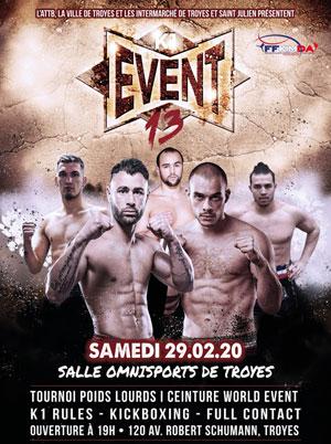 K1 EVENT 13 SALLE OMNISPORT DE TROYES rencontre, compétition de boxe