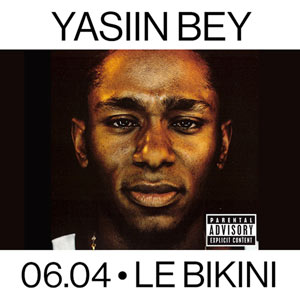 YASIIN BEY-BLACK ON BOTH SIDES 20T LE BIKINI concert de rap hip-hop