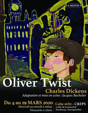 OLIVER TWIST - CHARLES DICKENS LE CUBE NOIR - CREPS pièce de théâtre pour enfant