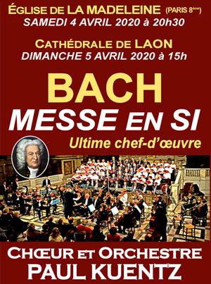 BACH MESSE EN SI CATHEDRALE NOTRE DAME concert de musique classique