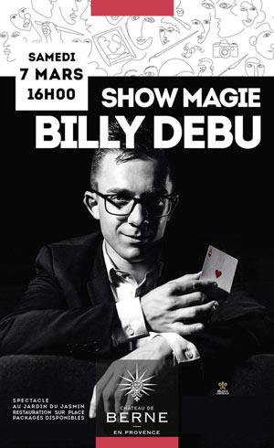 Plus d'infos sur l'évènement SHOW MAGIE BILLY DEBU