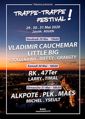 TRAPPE-TRAPPE FESTIVAL ! -PASS 1 J. Zénith de Rouen concert de rock
