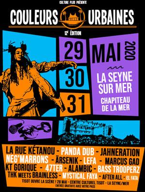 FESTIVAL COULEURS URBAINES  #12-DIM CHAPITEAU DE LA MER - LES SABLETTES concert de rap hip-hop