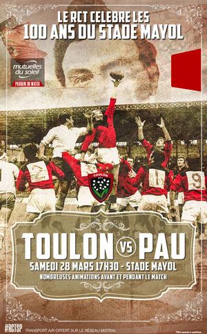 RC TOULON / SECTION PALOISE STADE MAYOL rencontre, compétition de rugby