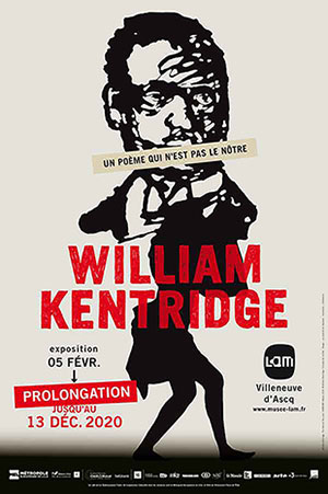 WILLIAM KENTRIDGE, UN POEME LaM - LILLE METROPOLE exposition