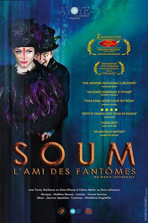 SOUM, L'AMI DES FANTOMES Théâtre Essaion de Paris pièce de théâtre pour enfant