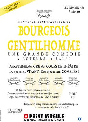 LE BOURGEOIS GENTILHOMME THEATRE POINT-VIRGULE pièce de théâtre classique