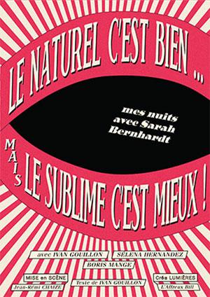 LE NATUREL C'EST BIEN... THEATRE COMEDIE ODEON pièce de théâtre contemporain