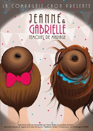 JEANNE & GABRIELLE CAFE THEATRE LE BACCHUS comédie, pièce de théâtre d'humour