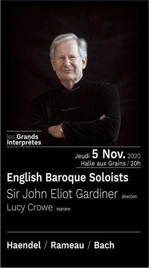 Plus d'infos sur l'évènement ENGLISH BAROQUE SOLOISTS