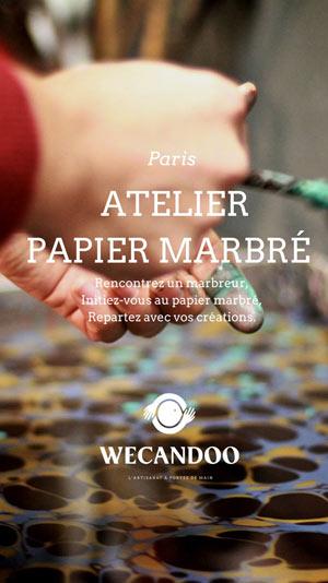 CRÉEZ VOTRE PAPIER MARBRÉ - PARIS DIVERS LIEUX atelier