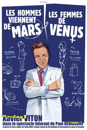 LES HOMMES VIENNENT DE MARS, LES FE Théâtre Trianon comédie, pièce de théâtre d'humour