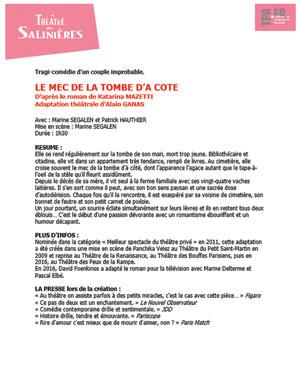 Plus d'infos sur l'évènement LE MEC DE LA TOMBE D'A COTE