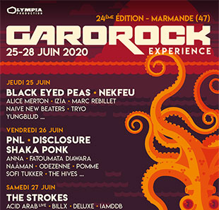 Pop-rock/Folk FESTIVAL GAROROCK 2020 MARMANDE