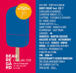 Pop-rock/Folk FESTIVAL BEAUREGARD 2020 HEROUVILLE ST CLAIR